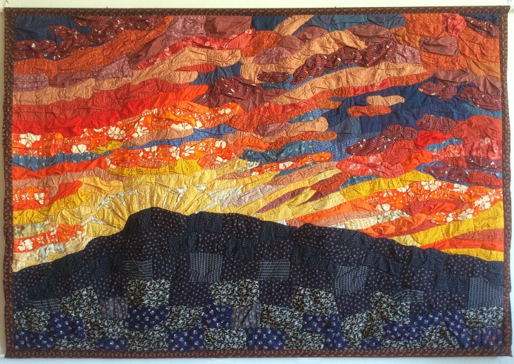 Sunset Over Death Valley by Amy Cools, 2013, 70in x 99in